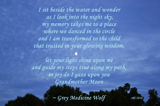 Grandmother Moon - Grey Medicinw Wolf